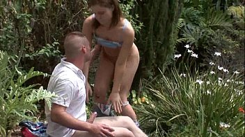 Teen with Big Ass Gets Fucked in the Woods!
