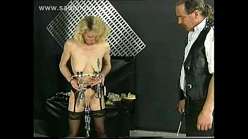 Mean clamps get ripped of her nipples and her cunt
