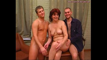 HORNY STEPMOM PLAYS WITH SON'S COCK AND FINGERS HERSELF