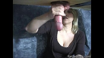 First Time Sloppy Seconds After Stranger Fucks His Wifes Pussy Gives Him Leg Shaking Orgasm.